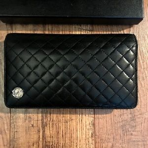CHANEL Quilted Vintage Long Bifold Wallet